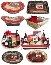 Large Christmas Hamper Wicker Basket Kit Set Handles Gift Box Make Your Own DIY