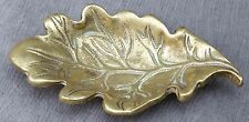 Oak Leaf Form Brass Pin Dish, Marked Made in England, 10cm Long