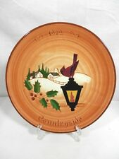 Glen View Pottery, Vintage 1972 Stumar Yuletide Plate - Countryside