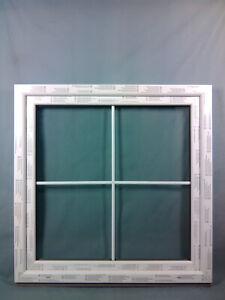 Kunststofffenster 120x120 cm bxh (1200x1200 mm) weiß,mit innenliegenden Sprossen