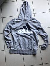 Adidas Logo Hoodie Kapuzenpullover L Sweatshirt grau Essentials