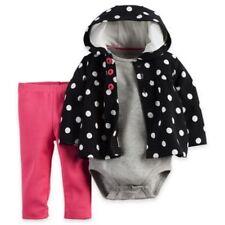 Carter's NWT 6M 12M Infant Girl Fleece Polka Dot Hoodie Cardigan