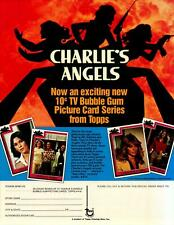 Charlie's Angels Series I Trading Card Dealer Sell Sheet Sale Ad Topps 1977