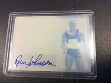 2015 Leaf Legends of Sport Ben Johnson Printing Plate 1/1 Medal auto Autograph