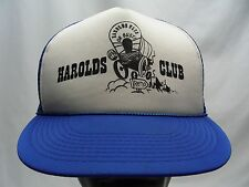 HAROLDS CLUB - RENO - VINTAGE TRUCKER STYLE ADJUSTABLE SNAPBACK BALL CAP HAT!