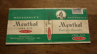 OLD CANADA CANADIAN CIGARETTE PACKET LABEL, McDONALDS MENTHOL BRAND 2