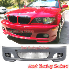 M-Tech II Style Front Bumper + Glass Fog Fit 00-06 BMW E46 3-Series 2dr Coupe