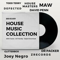 House Music Collection - Digital - DJ Friendly - 2750 Tracks - Quick Delivery