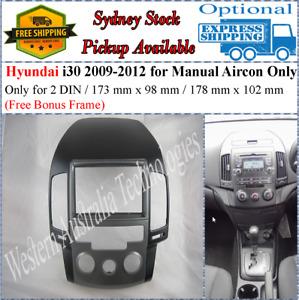 Fascia facia Fits Hyundai i30 i-30 2007-2011 Manual AC Two 2 DIN Dash Kit