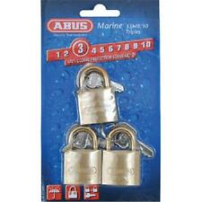 Abus 55Mb by 30 C Ka Solid Brass Keyed Different Carded Padlock with Brass Sh.