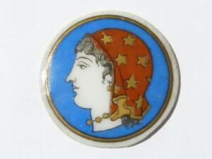 Fine 19thC Classic Lady CAMEO Porcelain Plaque Decorative Box Fitting Mount #R24