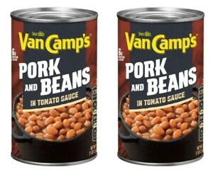 2 Van Camp's Pork and Beans in Tomato Sauce 28 oz Cans