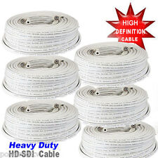 (6)x 100ft Premade RG59 Combo Siamese CCTV Coaxial BNC Cable for HD Camera