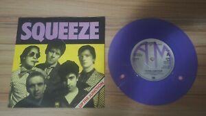 "Squeeze - Up the Junction PURPLE VINYL Record 7"" Single Vinyl 1979 EX/EX"