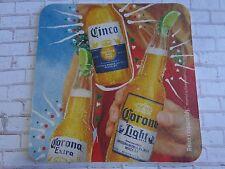 Beer Brewery Coaster ~ CORONA Light ~ Cinco al Maximo MEXICO ~ Relax Responsibly