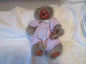 """*1992 Vintage Robert Raikes Teddy Bear """"Playtime Cookie"""" #38568 12"""" Jointed"""