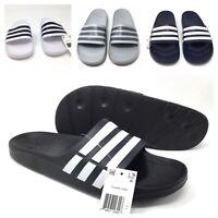 Adidas Duramo Slides 9 10 11 12 Mens Size Sandals Black Navy White Sports Beach