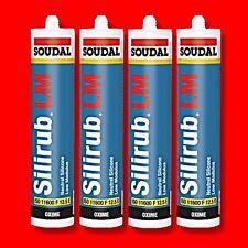4X SOUDAL SILIRUB LOW MODULUS NEUTRAL CURE OAK/CARAMEL BROWN SILICONE SEALANT LM