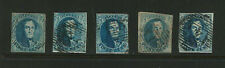 Belgium Scott # 7 Used, (10) Stamps