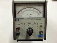 HP 400FL AC Voltmeter Hewlett Packard RMS Volts Decibels USA