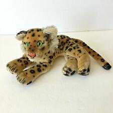 VTG Steiff Mohair Ocelot Leopard  Cheetah Plush Reclining With Green Eyes 9''