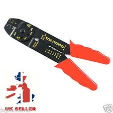 Crimping & Cutting Tool Cable Wire Stripper Pliers Electrical Crimper Cutter UK
