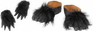 Gorilla Hands Gloves and Gorilla Feet Shoes Animal Accessories Halloween Party
