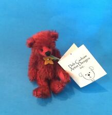 """Deb Canham """"Oliver"""" Rusty Red Mohair Miniature 3 3/4"""" Bear-Jointed 2004"""