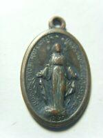 antique catholic Saint Miraculous Mary religious faith holy mother pendant 50510