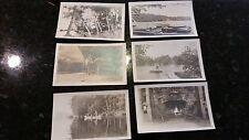 Lot: 20 Maine RPPC Photo Postcards 1910's Scenic Lakes Moose Historic Buildings