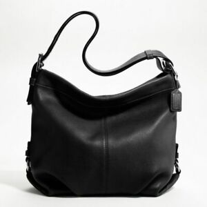 New in Bag Coach Black Pebbled LEATHER DUFFLE F15064  Below $358.00 Retail