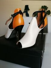 Hight heels, peep toe leather womens shoes size 5 (38)