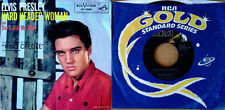 ELVIS PRESLEY - HARD HEADED WOMAN - RCA -  PICTURE SLEEVE + GOLD STANDARD 45