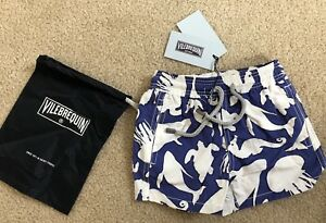 New w Tags & Bag Authentic VILEBREQUIN Swim Trunks SEA 2 YEARS Kids Unisex