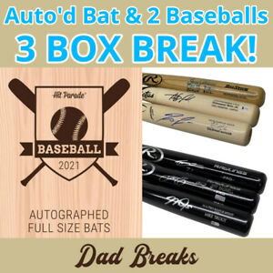 CHICAGO WHITE SOX MLB Hit Parade Signed Bat + 2 TriStar Baseball: 3 BOX BREAK