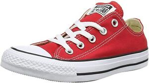 NEW CONVERSE ALL STAR HI RED MEN SIZE 6 WOMENS SIZE 8 (M9621)