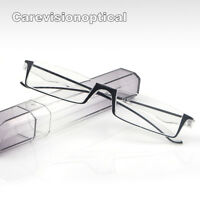 Compact Tube Case Reading Glasses Slim Fashion Light Weight Reader +1.00 ~+3.00
