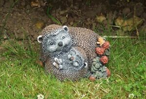Latex Rubber  Mould  Mother & Baby Hedgehog Garden Ornament Statue IN STOCK C