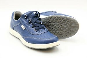 Women's SAS Sporty Lux Sneaker Blue Leather Size 8 N