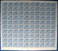 s9) Switzerland test stamp SPECIMEN sheet 1958 ** Schweiz Probedruck kpl Bogen