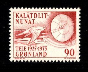 ES-15067 Greenland Bird Scott100 Falcon and Radar Telecom  MNH 1975