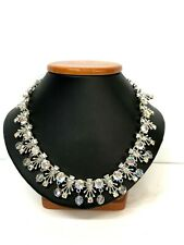 Vintage Coro Silver Tone Rhinestone Custom Made Necklace 16 inches Long