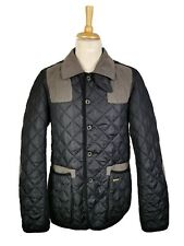 Barbour Mens Variagated To-Ki-To Sporting Quilt Navy Hunting Style Jacket, XL
