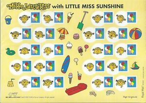 GB 2009 SMILER SHEET LS62 MR MEN LITTLE MISS SUNSHINE MINT