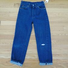 VINTAGE ORIGINAL DENIM JEANS PANTS FOREMOST SELVEDGE  KIDS SIZE 8 1950's 1960's