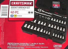 Craftsman 42pc 1/4 & 3/8 Wrench Hex Torx Bit Socket Set SAE and Metric NEW 99941