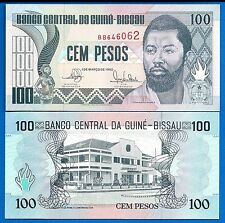 Guinea-Bissau P-11 100 Pesos Year 1.3.1990 Uncirculated Banknote Africa