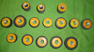 """SIOUX VALVE SEAT GRINDING STONES 15 PCS DIFFERENT SIZES  and NUMBERS 11/16"""" TRD"""