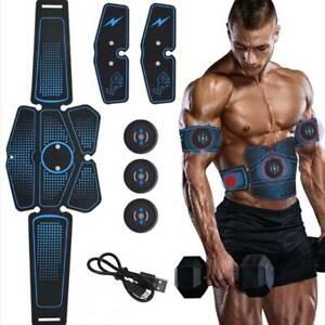 Electric Muscle Toner EMS Machine Wireless Toning Belt 8 Six Pack Abs Fat Burner