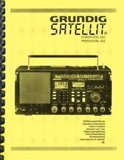 Grundig Satellit 650 Shortwave Radio Receiver OWNER'S MANUAL and SERVICE MANUAL